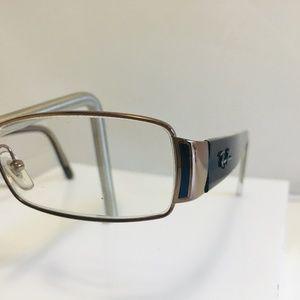 Ray Ban Eyeglasses 6082 2531. Brown Rectangular